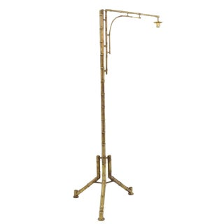 Tripod Base Faux Bamboo Floor Lamp