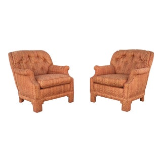 Vintage Orange Lounge Chairs - A Pair