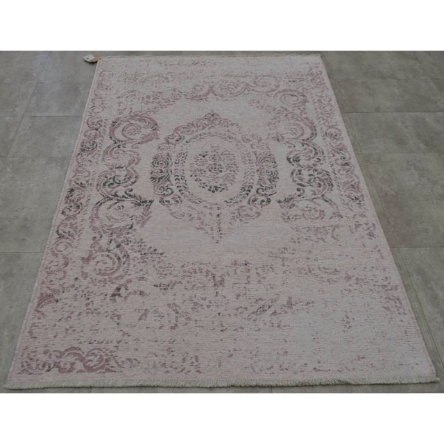 Image of Purple Overdyed Turkish Rug - 3′11″ X 5′11″