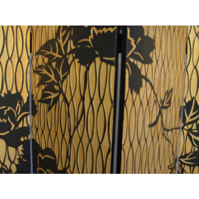 1960s Japanese 4 Panel Screen - Image 3 of 8