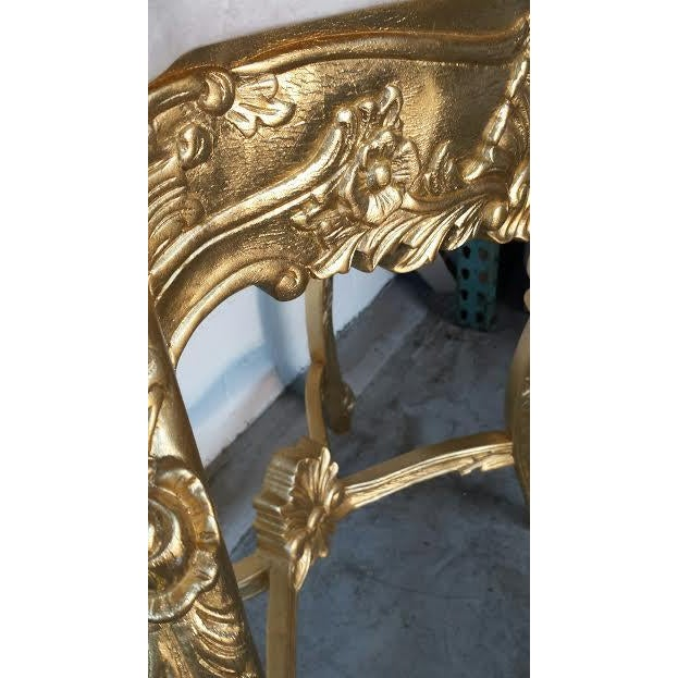 French Rococo XV Marble Top Console Table - Image 9 of 9