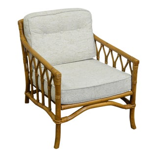 Ficks Reed Rattan Bamboo Lounge Chair