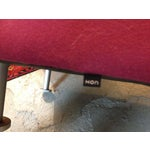 Magenta Hon Flock Round Lounge Chairs A Pair Chairish