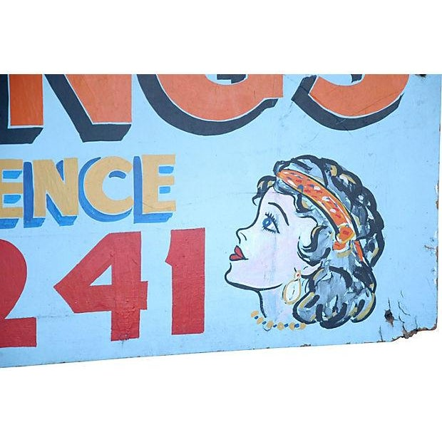 Image of Vintage Hand-Painted Spiritual Readings Sign