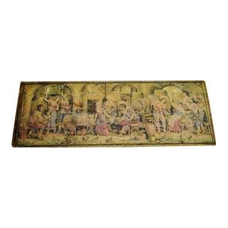 Antique Tapestry - European Festive Scene