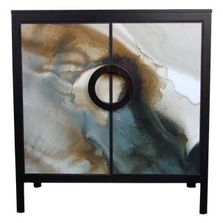 John Strauss & Blackbird Watercolor Chest Console
