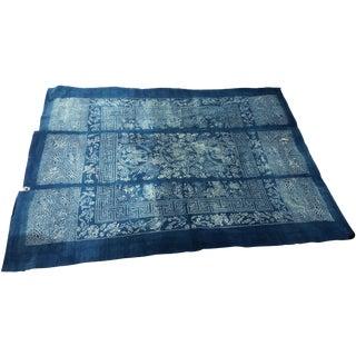 Indigo Nanking Batik Textile