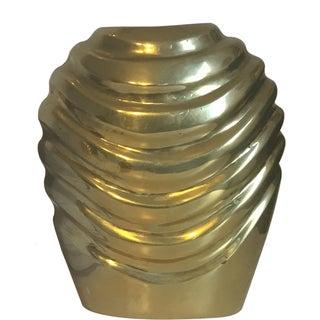 Brass Rosenthal-Netter Ribbed Vase