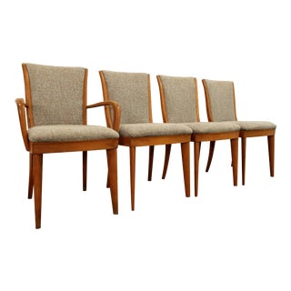 Heywood Wakefield Mid-Century Modern Champagne Dining Chairs- Set of 4