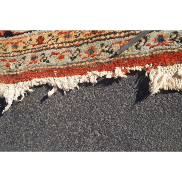 Antique Hand Woven Persian Heriz Rug - 11′6″ × 16′8″ - Image 9 of 10