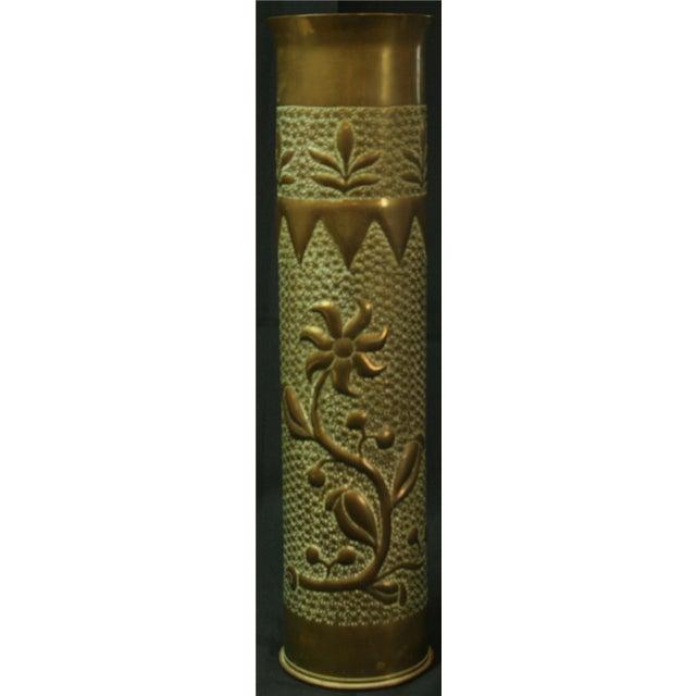 Antique Belgian Militaria Shell Case Brass Vases - Image 3 of 8