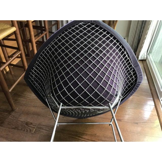 Bertoia Knoll Mid-Century Modern Chrome Diamond Chair - Image 4 of 9
