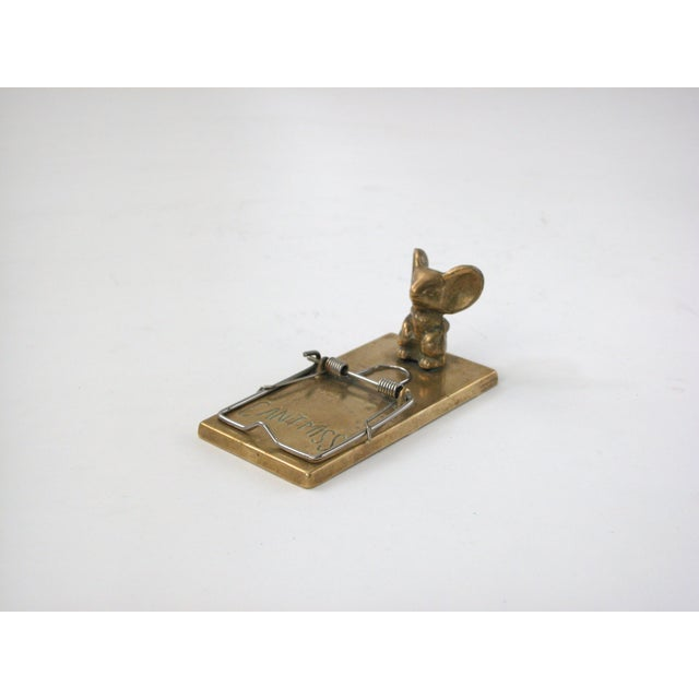 Brass Mouse Trap Note Holder - Image 6 of 6