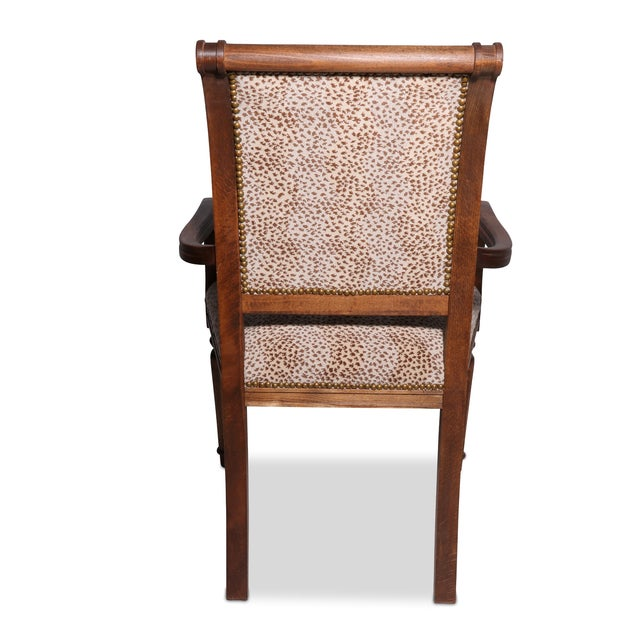 Image of Decorator Arm Chair With Cheetah Print