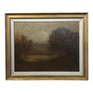 19th Century California Impressionist Amedee Joullin Picturesque Landscape