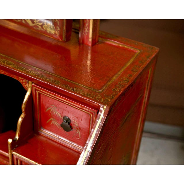 Antique 19th Century Painted Chinoiserie Vanity - Image 6 of 10