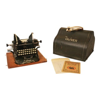 Vintage Oliver No 3 Typewriter With Case & Instructions