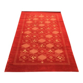 Prado Epos Red Wool Area Rug - 6′6″ × 9′10″