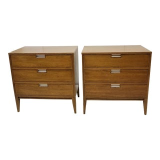 Pair of Mid Century Danish Modern Basic Witz Walnut Bachelor Chests