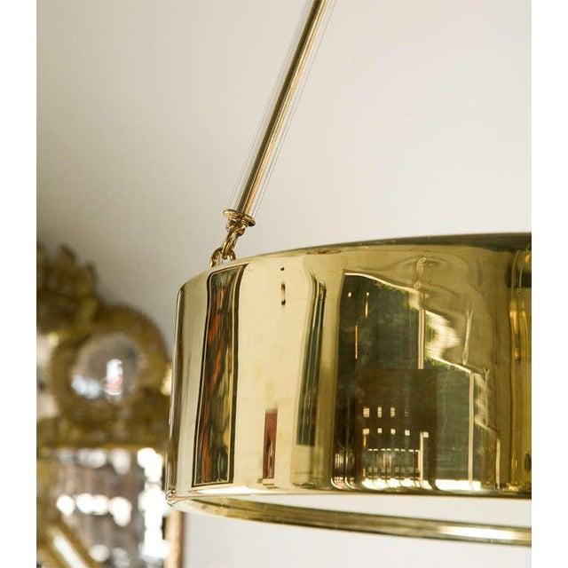 Paul Marra Brass Drum Chandelier - Image 4 of 10