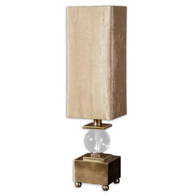 Image of Brushed Brass & Crystal Ball Lamp
