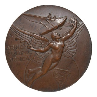 "Pan American Conference at Lima Bronze Medallion ""Arriba Siempre Arriba"" c.1937"