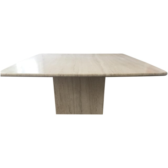 Image of Italian Travertine Marble Coffee Table