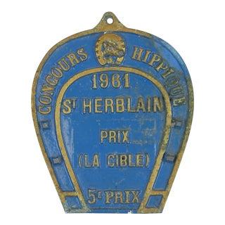 Concours Hippique 1961 St. Herblain Plaque