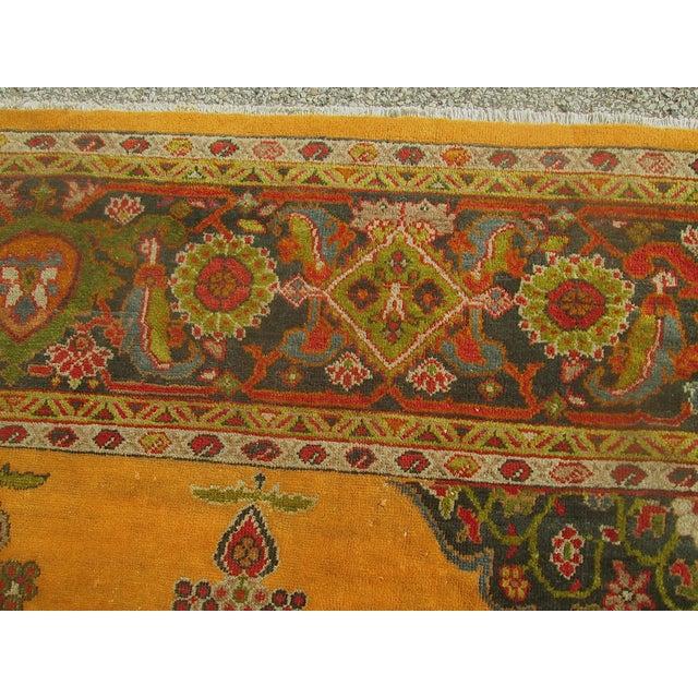 Antique Persian Orange/Green Oushak Style Rug - Image 7 of 9