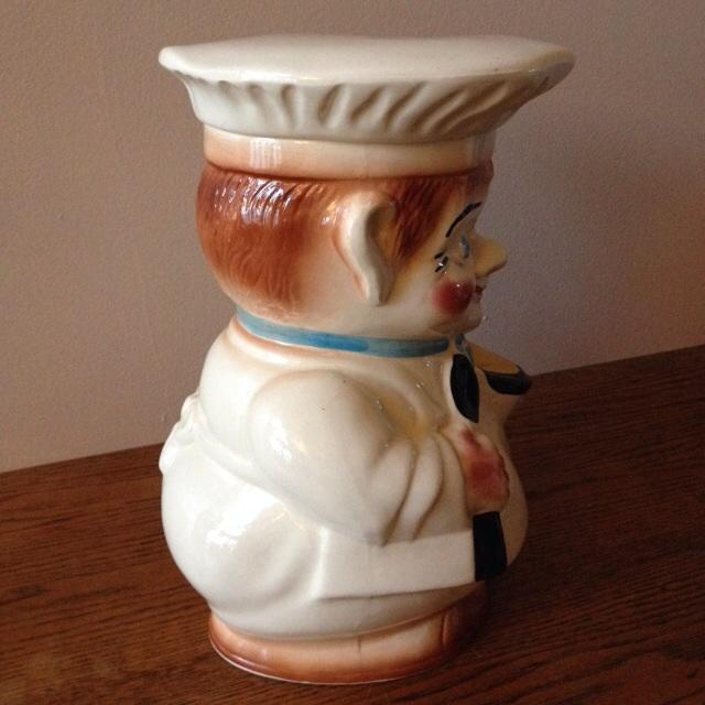 Vintage 1940s Roseville Pottery Chef Cookie Jar - Image 5 of 11