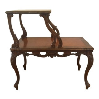 Antique Traditional Wood Side Table