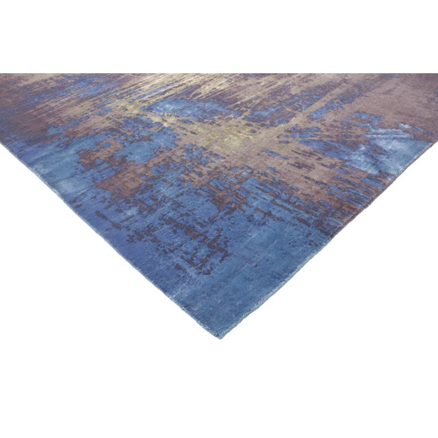 """Contemporary Abstract Scratch Texture Rug - 8'7"""" x 9'11"""" - Image 2 of 7"""