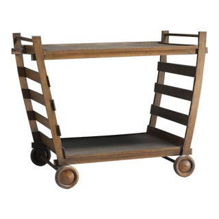 Gerrit Rietveld Very Rare Wooden Serving Trolley, Netherlands, 1940s