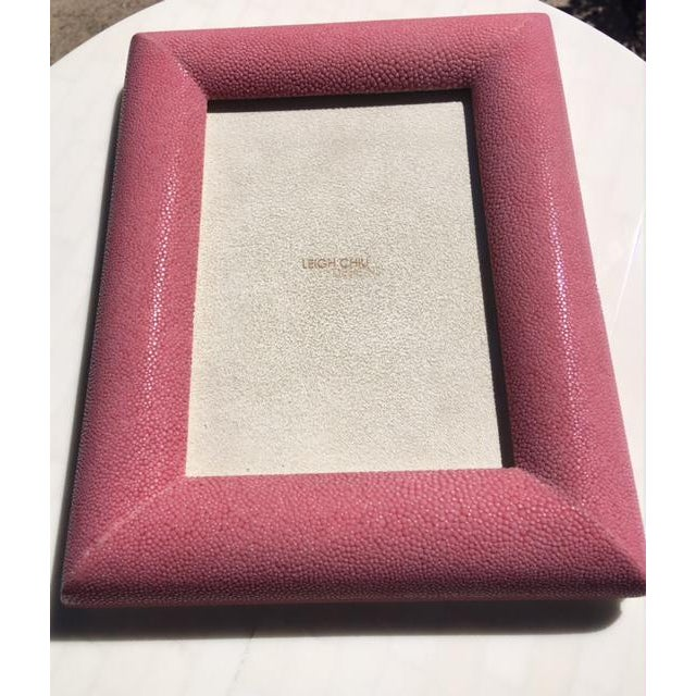 Image of Rose Shagreen Picture Frame