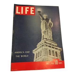 1940 Wartime Life Magazine Statue of Liberty Issue