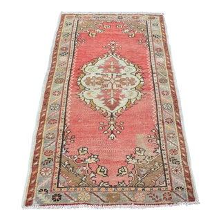 Handmade Turkish Oushak Carpet - 2′10″ × 5′6″