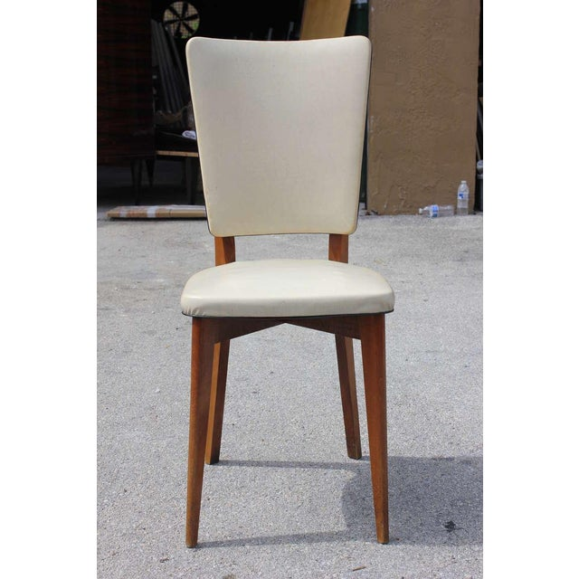 Image of Vintage French Art Deco Mahogany Dining Chairs - Set of 6