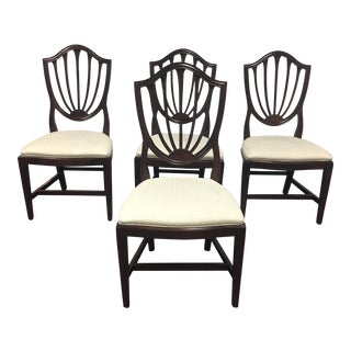 Ethan Allen Shield Back Dining Chairs - Set of 4
