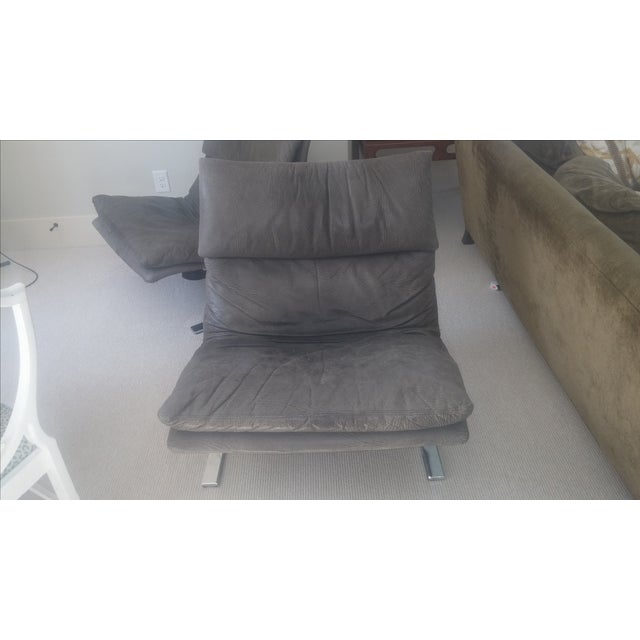 "Saporiti ""Onda (Wave) Lounge Chairs"" - Pair - Image 3 of 8"