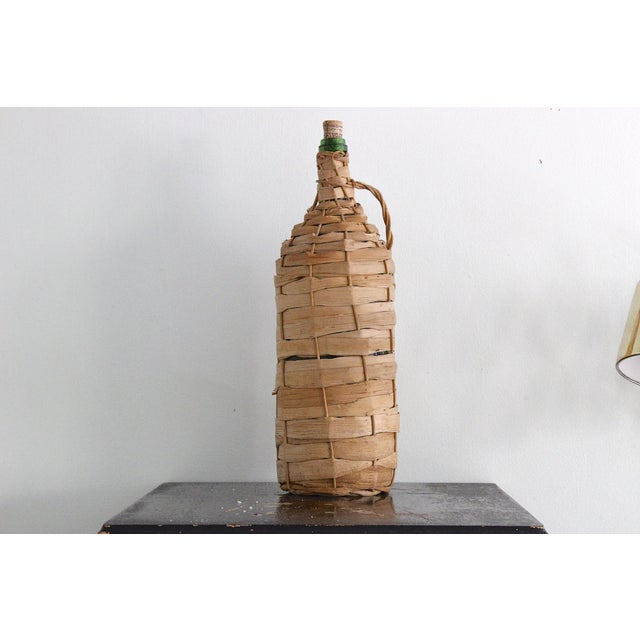 Image of Vintage Wicker Wrapped Bottle