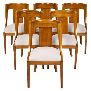 Set of 6 French Antique Empire Style Chairs