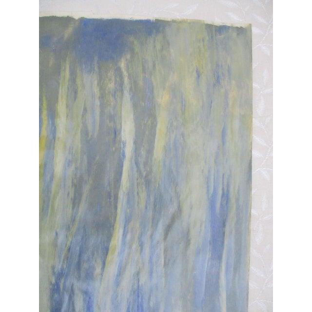 Alaina Blue Green Streak Painting - Image 9 of 10