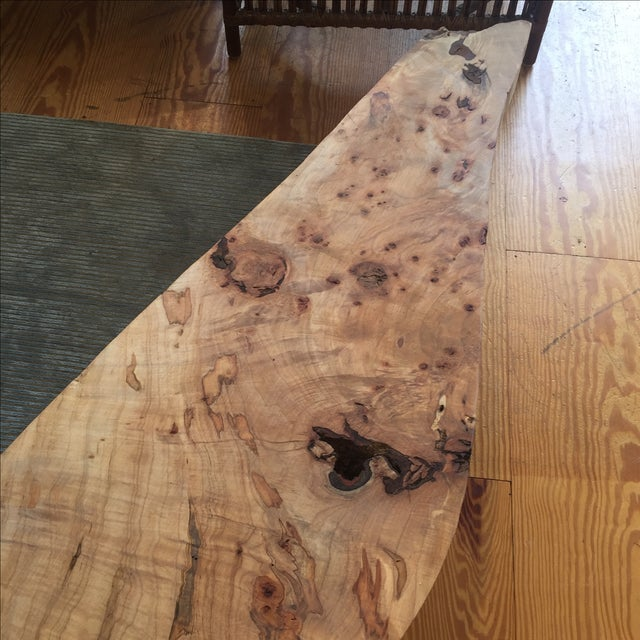 Live Edge Wood Slab Bench or Coffee Table - Image 5 of 9