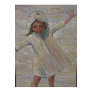 Vintage Child With Arms Wide, Oil on Canvas by Charlie MacEachern