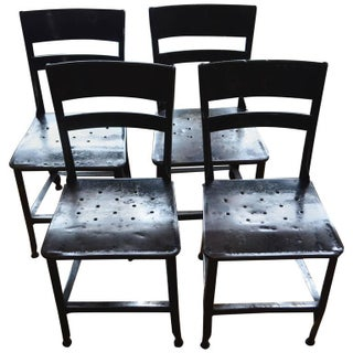 Indsutrial Steel Dining Chairs - Set of 4