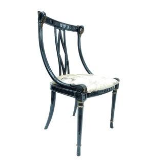 Hollywood Regency Black & Gold Swan Chair