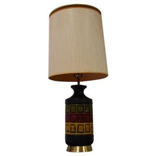 Rastafarian Style Pottery Table Lamp