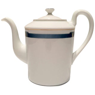 Christofle Porcelain & Gold Coffee Pot