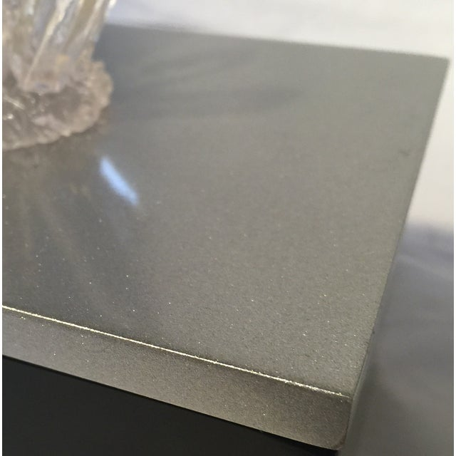 Image of Black Lacquered Box with Faux Quartz