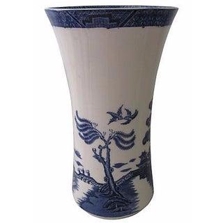 Vintage Royal Doulton Large English Willow Vase